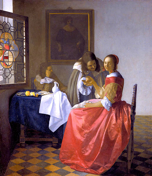 Jan_Vermeer_girl with wine glass