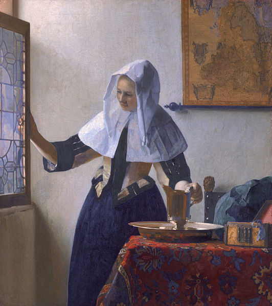Jan_Vermeer_woman with water pitcher