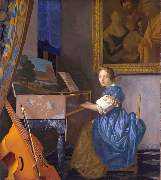 a young woman by Vermeer